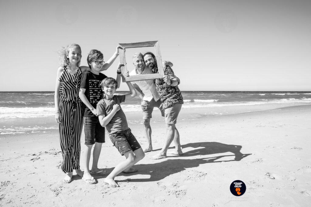familie fotoshoot op het strand